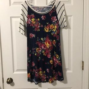 12pm by Mon Ami Floral Baseball Tee Dress